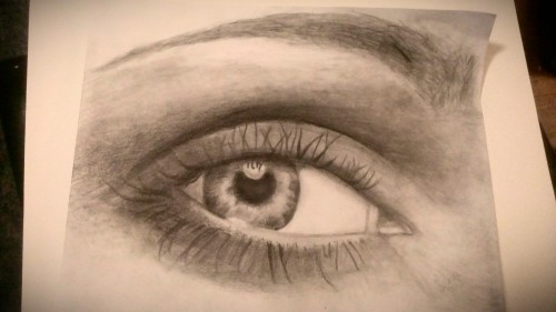 my depiction of an eye ... a pencil sketch.